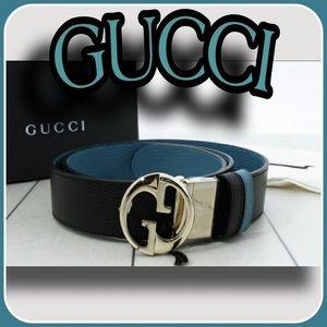 Calfskin genuine Gucci belt